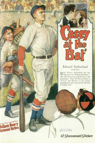 Wall Art - Mixed Media - Casey At The Bat 1927 by Movie Poster Prints