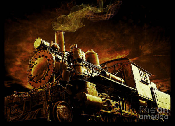 Steam Engine Photograph - Casey Jones And The Cannonball Express by Edward Fielding