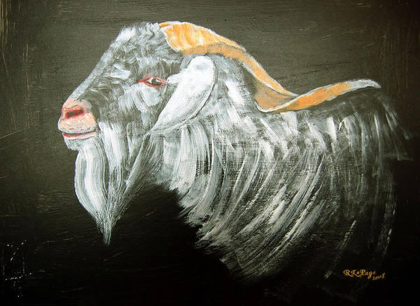 Painting - Cashmere Goat by Richard Le Page