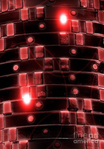 Digital Art - Casino Chips Glow by John Rizzuto
