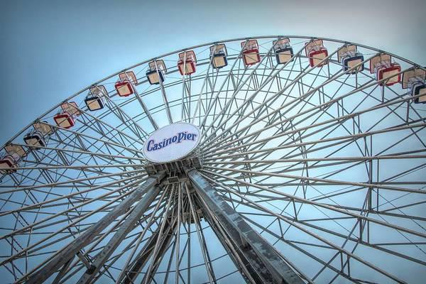 Photograph - Casino Pier Ferris Wheel by Kristia Adams