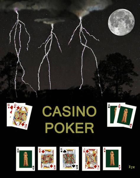 Macau Mixed Media - Casino Poker  Poker Cards by Eric Kempson