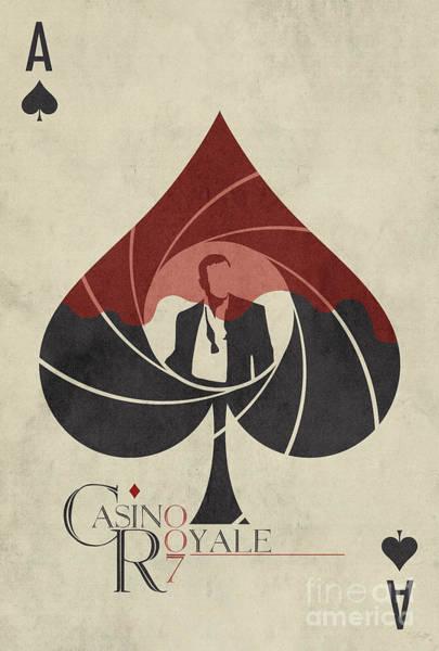 Casino Royale Digital Art - Casino Royale Movie Poster by Ed Burczyk