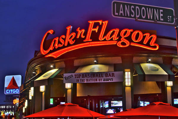 Photograph - Cask And Flagon Citgo Sign Lansdowne Street by Toby McGuire