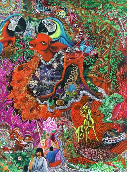 Art Print featuring the painting Caspi Shungo by Pablo Amaringo