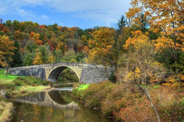 Garrett County Wall Art - Photograph - Casselman Bridge by Tom Weisbrook