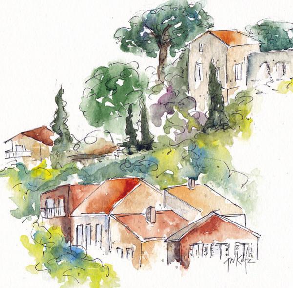 Painting - Cassis Hillside by Pat Katz