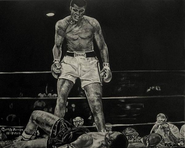 Dope Painting - Cassius Clay And Sonny Liston by Cynthia Farmer