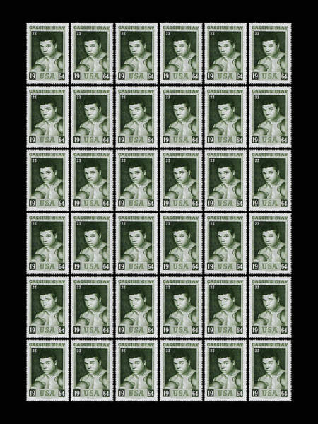 Boxing Photograph - Cassius Clay World Champion Stamp by Mark Rogan