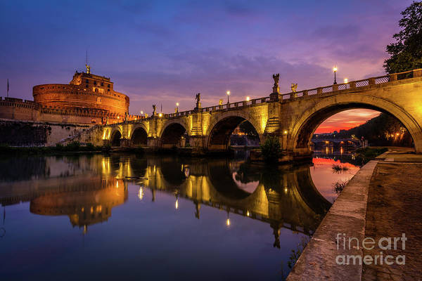 Tiber Wall Art - Photograph - Castel Sant Angelo And The Tiber by Inge Johnsson