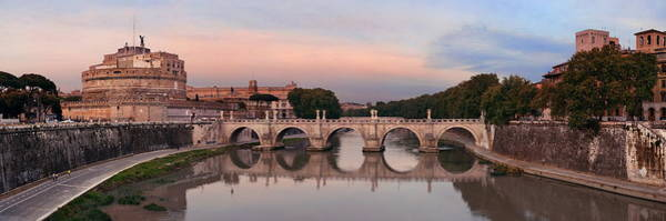 Photograph - Castel Sant Angelo Panorama by Songquan Deng