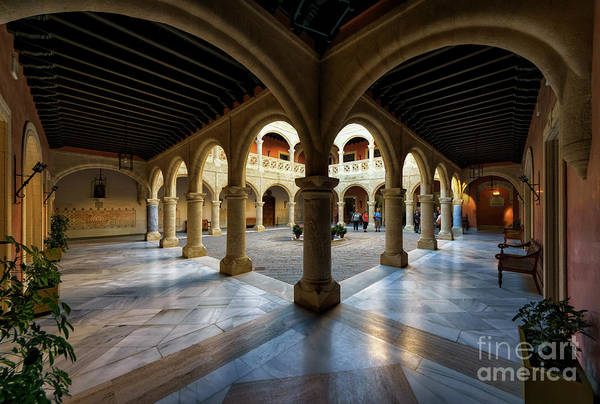 Photograph - Castillo De Luna Columned Courtyard Rota Cadiz Spain by Pablo Avanzini