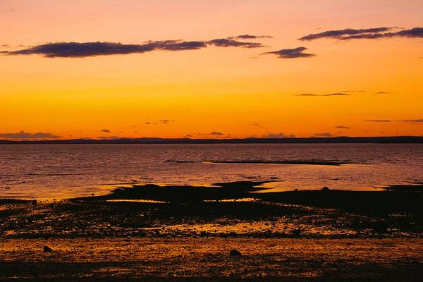 Photograph - Castine Beach Sunset by Polly Castor