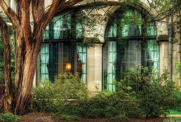 Photograph - Castle - The Castle Windows by Mike Savad