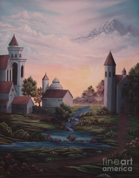 Painting - Castle 1 by Greg Reichert