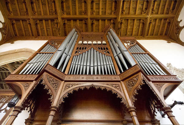 Photograph - Castle Ashby Pipe Organ by Jenny Setchell