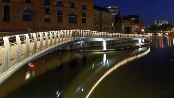 Photograph - Castle Bridge D By Night Bristol England by Jacek Wojnarowski