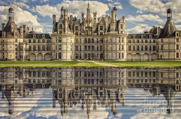 Photograph - Castle Chambord by Heiko Koehrer-Wagner