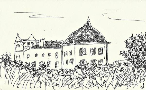 Drawing - Castle Of Coswig by Chani Demuijlder