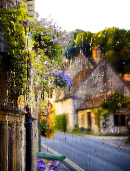 Photograph - Castle Combe Rainy Window by Michael Hope