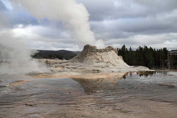 Photograph - Castle Geyser In Yellowstone by Pierre Leclerc Photography