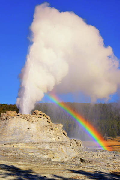 Photograph - Castle Geyser Rainbow by Greg Norrell