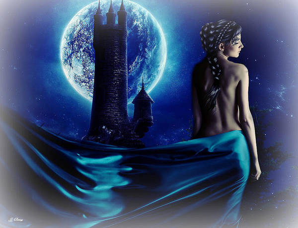Full Moon Mixed Media - Castle Goddess by G Berry