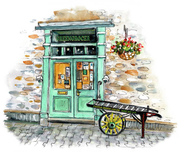 Painting - Castle Greengrocer In Hay On Wye by Miki De Goodaboom