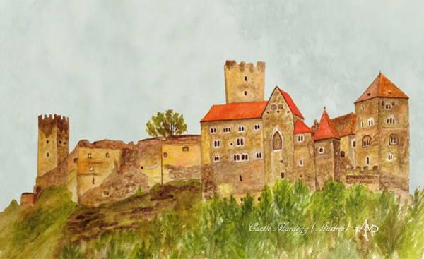 Painting - Castle Hardegg by Angeles M Pomata