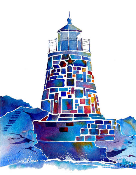 Painting - Castle Hill Newport Lighthouse by Jo Lynch