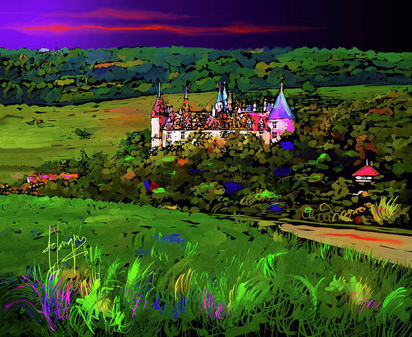 Painting - Castle  In Beaune,france by DC Langer