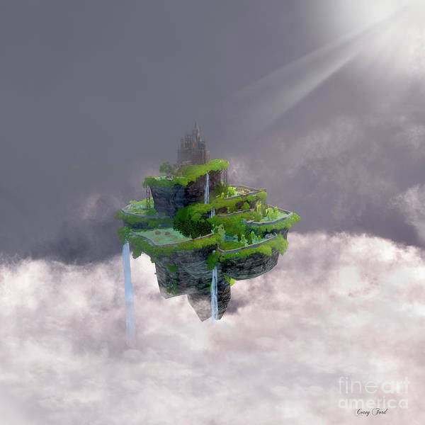 Wall Art - Digital Art - Castle In The Clouds by Corey Ford