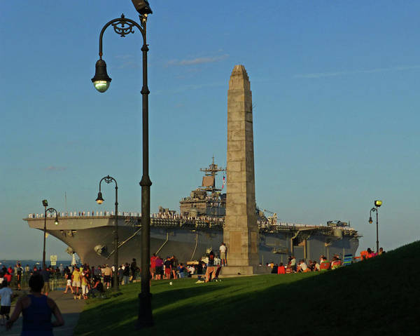 Photograph - Castle Island Aircraft Carrier 2012 Boston Ma Tall Ships Monument by Toby McGuire