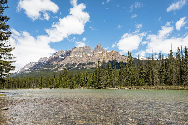 Photograph - Castle Mountain Over Bow River by M C Hood