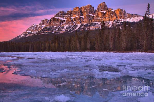 Photograph - Castle Mountain Purple Skies by Adam Jewell