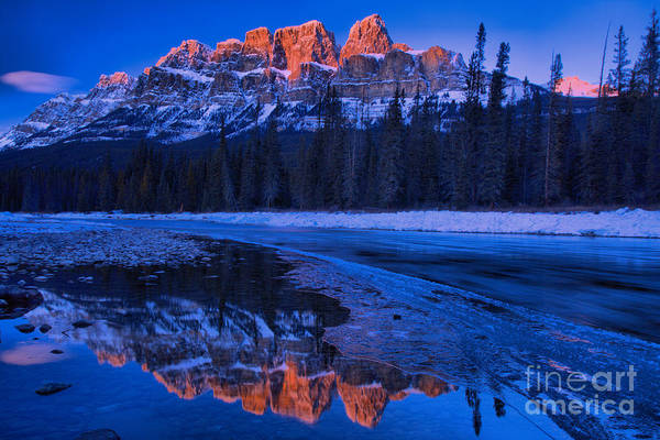 Photograph - Castle Mountain Sunkissed Tip by Adam Jewell