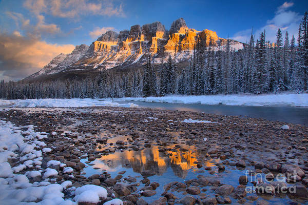 Photograph - Castle Mountain Sunrise Reflections by Adam Jewell