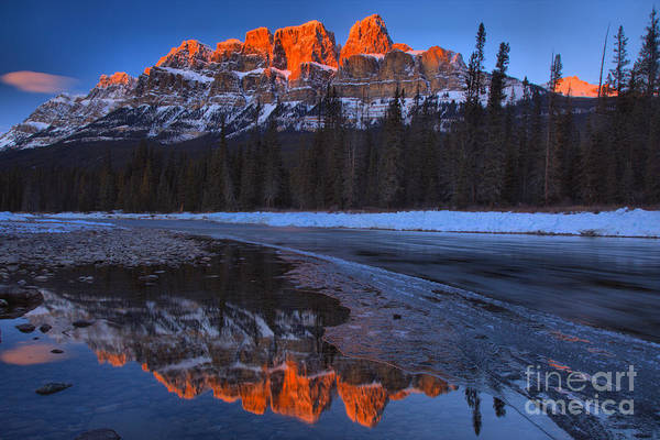 Photograph - Castle Mountain Sunset Peaks by Adam Jewell
