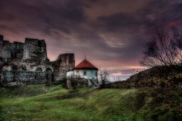 Photograph - Castle Of Levice At Twilight by Roberto Pagani