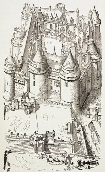 Chateau Drawing - Castle Of Pierrefonds, France by Vintage Design Pics