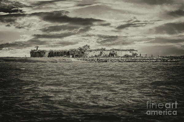 Photograph - Castle Pinckney In Charleton Harbor by Dale Powell