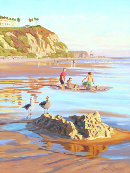 Gull Painting - Castle Raiders by Steve Simon