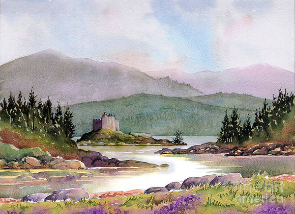 Wall Art - Painting - Castle Tioram  by Anthony Forster