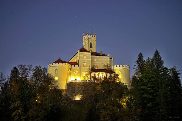 Photograph - Castle Trakoscan Under The Stars by Ivan Slosar