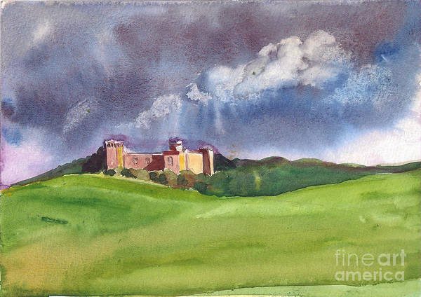 Painting - Castle Under Clouds by Asha Sudhaker Shenoy