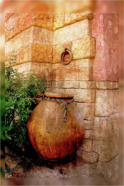 Photograph - Castle Vase And Wall Series 7840y by Carlos Diaz