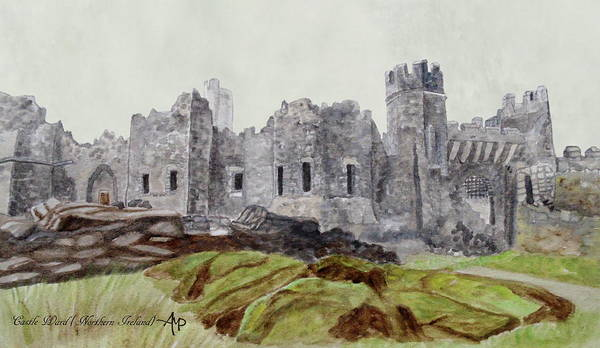 Painting - Castle Ward by Angeles M Pomata
