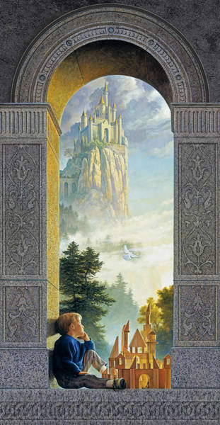Blue Hair Wall Art - Painting - Castles In The Sky by Greg Olsen