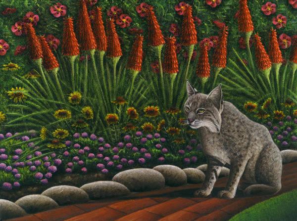 Wall Art - Painting - Cat - Bob The Bobcat by Carol Wilson