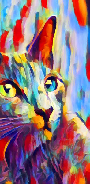 Wall Art - Painting - Cat 3 by Chris Butler